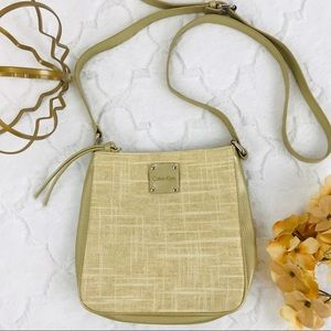 Calvin Klein 💫 Crossbody ~ Muted Gold and Tweed